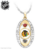For The Love Of The Game Blackhawks® Pendant Necklace