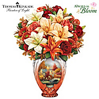 Thomas Kinkade Amber Elegance Table Centerpiece