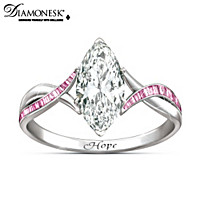 now truly not breast dazzling cancer of beauty ring hope let sparkle gemstone rings gorgeous is awareness with the this