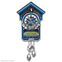 Detroit Lions Cuckoo Clock