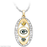For The Love Of The Game Green Bay Packers Pendant Necklace