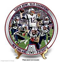 Super Bowl XLIX Champions Patriots Collector Plate