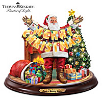 Thomas Kinkade Santa\'s Holiday Wishes Sculpture