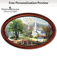 Thomas Kinkade Love For Always Personalized Collector Plate