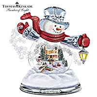 Thomas Kinkade Spreading Holiday Cheer Snowglobe