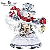 Thomas Kinkade Spreading Holiday Cheer Snowglobe