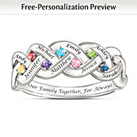 Together For Always Personalized Ring