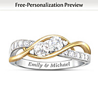 The Two Of Us Personalized Ring