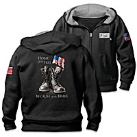 Because Of The Brave Men's Hoodie
