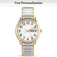Classic Daytimer Personalized Men's Watch