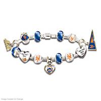 Go Mets! #1 Fan Charm Bracelet