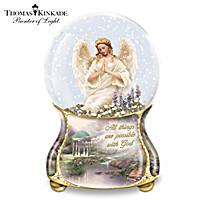 Thomas Kinkade Serenity Angel Glitter Globe