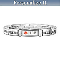 Medical Alert Personalized Men\'s Bracelet