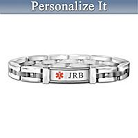 Medical Alert Personalized Men\'s Bracelet