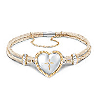 Bless And Keep My Granddaughter Diamond Bracelet