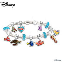 Disney Pixar FINDING NEMO Just Keep Swimming Charm Bracelet