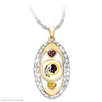 For The Love Of The Game Redskins Pendant Necklace
