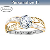 kathy ireland Forever Our Love Personalized Ring