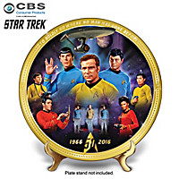 STAR TREK 50th Anniversary Commemorative Collector Plate