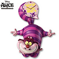 Disney Alice In Wonderland Cheshire Cat Wall Clock