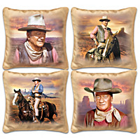 John Wayne Western Sunset Pillow Set
