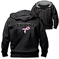Only The Strong Wear Pink Men\'s Hoodie
