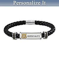 U.S. Coast Guard Personalized Men's Bracelet