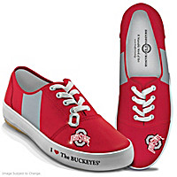 I Love The Buckeyes Women's Shoes