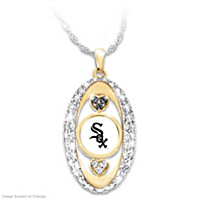 For The Love Of The Game White Sox Pendant Necklace