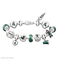 Go Spartans #1 Fan Charm Bracelet