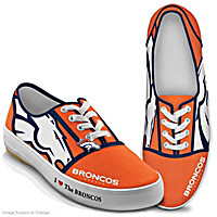 I Love The Broncos Women\'s Shoes