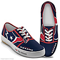 I Love The Texans Women\'s Shoes