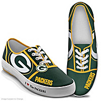 I Love The Packers Women\'s Shoes