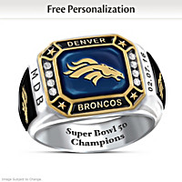 Broncos Pride Personalized Commemorative Ring