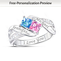 Together Cheek To Cheek Personalized Ring