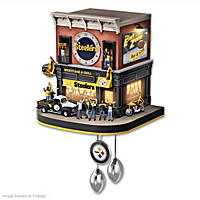 Pittsburgh Steelers Fan Celebration Cuckoo Clock