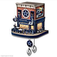 Dallas Cowboys Fan Celebration Cuckoo Clock
