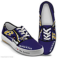 I Love The Ravens Women\'s Shoes