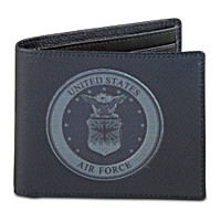 Air Force Men's RFID Blocking Leather Wallet
