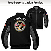USMC Salute Personalized Men\'s Jacket