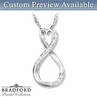 Infinity Heart Personalized Diamond Pendant Necklace