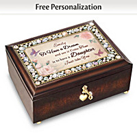 My Daughter, You\'re A Dream Come True Personalized Music Box