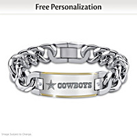 Cowboys Diamond Personalized Bracelet