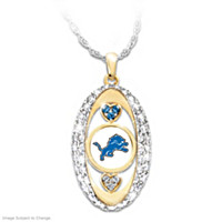 For The Love Of The Game Lions Pendant Necklace