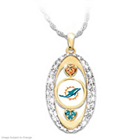For The Love Of The Game Dolphins Pendant Necklace