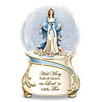 Blessed Mary Glitter Globe