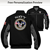 Navy Salute Personalized Men\'s Jacket