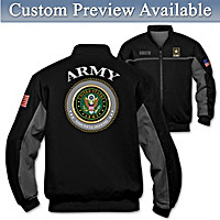 Army Salute Personalized Men\'s Jacket