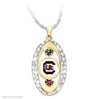 For The Love Of The Game Gamecocks Pendant Necklace
