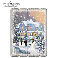 Thomas Kinkade On A Starlit Winter\'s Night Wall Decor